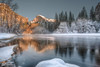 Half Dome Reflection (FollowingNature) Tags: halfhome reflection yosemitevillage yosemitenationalpark followingnature snow mercedriver