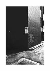 building corner (TVSCREEN00) Tags: blackandwhite contrast reflection shine lines flash flashphotography frame building architecture nikon zine zines
