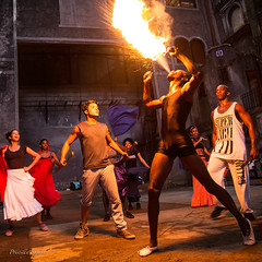 Fire Eater (priscellie) Tags: cuba cubacollection dancer dancers dancing afrocuban afrocaribbean caribbean athlete athletic passion energy art fineart political history color music performer performance performing fire fireeating havana lahabana centrohabana