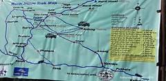 P1100999 This Map at Deorali shows Mardi Route in detail (12-15PM) (ks_bluechip) Tags: nepal trek dec2016 annapurna abc mbc landruk tolga pitamdeorali pothana