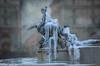 10 gennaio 2017. Roma, Piazza della Repubblica, fontana delle Naiadi ghiacciata come in una pittura... (adrianaaprati) Tags: ghiaccio ice frosty inverno winter gennaio january 2017 fountain roma italy freezedwater scultura sculpture arte art naiadi naiads ninfe nymphs mythology texture