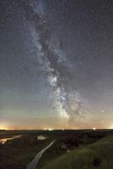 Caresland Milky Way Aug 1 (John Andersen (JPAndersen images)) Tags: 6d alberta aurora bowriver canon caresland green milkyway night pond reflections sky stars wild