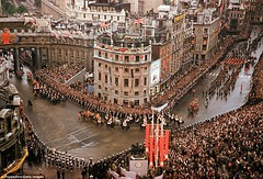 Coronation of Queen Elizabeth 1953 (Peer Into The Past) Tags: aerialphotography historyincolor peerintothepast greatbritain british history vintage london 1953 coronation queenelizabeth