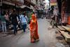 Veiled (ujjal dey) Tags: fujifilm india jan2017 jodhpur rajasthan ujjal ujjaldey xe2s ujjaldeyin lady face cover veil saree streets walk hurry shy