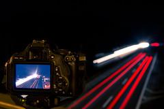 Light trail photography (mad_airbrush) Tags: 5d 5dmarkiii 2470mm 2470mmf28lusm 2470mmf28l night nightshot longexposure highway autobahn lights cars camera canon 650d dark lighttrails trails outside urbannature