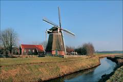 Molen de Drie Polders (TeunisHaveman) Tags: molen mill water polder slochteren molens poldermolen groningslandschap groenedijk windmolen