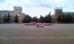 Главная площадь в городе Октябрьский, площадь имени В. И. Ленина