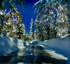 Drought Over?   .....Explore  Jan30 (The VIKINGS are Coming!) Tags: snow mountains blizzard sierra nevada rainbowlodge i80 drought alpine drifts plow roads