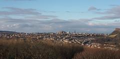 Edinburgh seen from Craigmillar Castle (cmax211) Tags: blurred mediumquality edinburgh scotland craigmillar castle