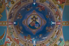 Up above (Lens_Flaire) Tags: color colour church canon painting peace religion belief chapel ceiling sacred murial