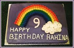 Rainbow cake, by Kimberly, Triad Area, NC, www.birthdaycakes4free.com