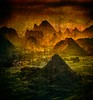 The Tapestries of China (Stuck in Customs) Tags: china sunset orange mountain green texture june vertical sepia landscape asia day guilin daily trey eastasia 2014 guanxi ratcliff southeastchina treyratcliff p2015 stuckincustomscom sonya7r cfiled44notposted