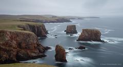 Granite clifs at Westerwick (Kees Waterlander) Tags: longexposure scotland unitedkingdom gb granite shetland graniet westerwick leebigstopper mainlandshetland westerskeld
