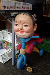 Spider Deity (cowyeow) Tags: street mannequin strange statue shop asian weird store crazy funny asia doll mannequins dolls god buddha tricycle humor chinese bad spiderman taiwan funky creepy wrong hindu bizarre taiwanese deity lanternfestival pingxi funnychina funnytaiwan