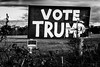 Trump sign in Virginia (petcoffr) Tags: russpetcoff haymarket nikond200 russellpetcoff virginia blackandwhite monochrome