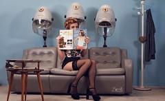 Pinups with Ellie at Retrosexual: At the hairdresser's again, reading (SpirosK photography) Tags: pinup vintage retrosexual spiroskphotography ellie elisavetlatsiou ellieroussou pinupphotography jerryscott alvina constandinariza portrait alvinahairstylist hairdressers hairdresser phone phonecall rousou ellierousou pinupgirls pinupphotoshoot nikon d750 strobist