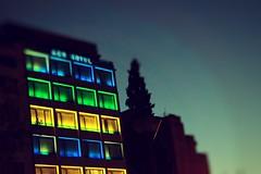 Magic cubes (Konstantinos Karnaros) Tags: buliding athens colour boxes green blue yellow