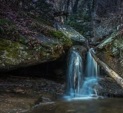 Raven Cliff Falls. One of the many falls along the trail (Bo Drinkard) Tags: northga ravencliff wandernorthga atlantatrails formatthitech firecrest 10stop fujifilm xt10 fuji14 wideangle