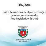 Culto Ecumênico de Ação de Graças 13/12/2016