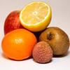 Textures fruits (gaillardou) Tags: fruit flash studio textures pomme kiwi clémentine citron litchi nourriture intérieur fond blanc canon coupe