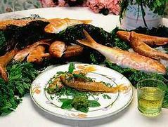 Cucina siciliana - Triglie con salsa di menta (RicetteItalia) Tags: menta menzi trigghi mollica pesto