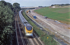 Eurostar 3005 London Waterloo-Paris. Aldington, Kent. 21 August 2001. (mikul44171) Tags: eurostar aldington kent thirdrail hs1 chunnel