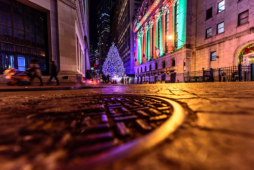 Christmas in New York's Financial District