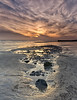 Lumpy (Through Bri`s Lens) Tags: sunset lancing worthing lowtide rocky brianspicer canon5dmk3 canon1635f4 hightecreversegrad