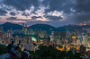 Overlooking (Leslie Hui) Tags: hongkong cityscape discoverhongkong twilight mountain city