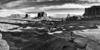 Shadows on Monument Valley