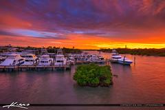 Sunset Jupiter Florida at Waterway with Jupiter Lighthouse (Captain Kimo) Tags: aurorahdr2017 captainkimo easyhdr florida hdrphotography jupiter jupiterlighthouse loxahatcheeriver nikhdrefx sunset waterway