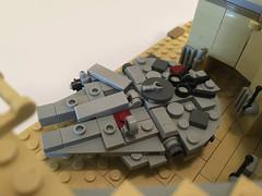 Lego Millennium Falcon Docking Bay 94 micro diorama (richardvanas1) Tags: lego millennium falcon docking bay 94 hangar tatooine han solo micro moc
