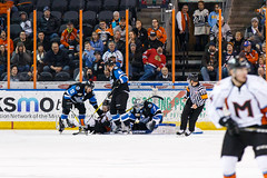 "Missouri Mavericks vs. Wichita Thunder, January 6, 2017, Silverstein Eye Centers Arena, Independence, Missouri.  Photo: John Howe / Howe Creative Photography • <a style=""font-size:0.8em;"" href=""http://www.flickr.com/photos/134016632@N02/32191515416/"" target=""_blank"">View on Flickr</a>"