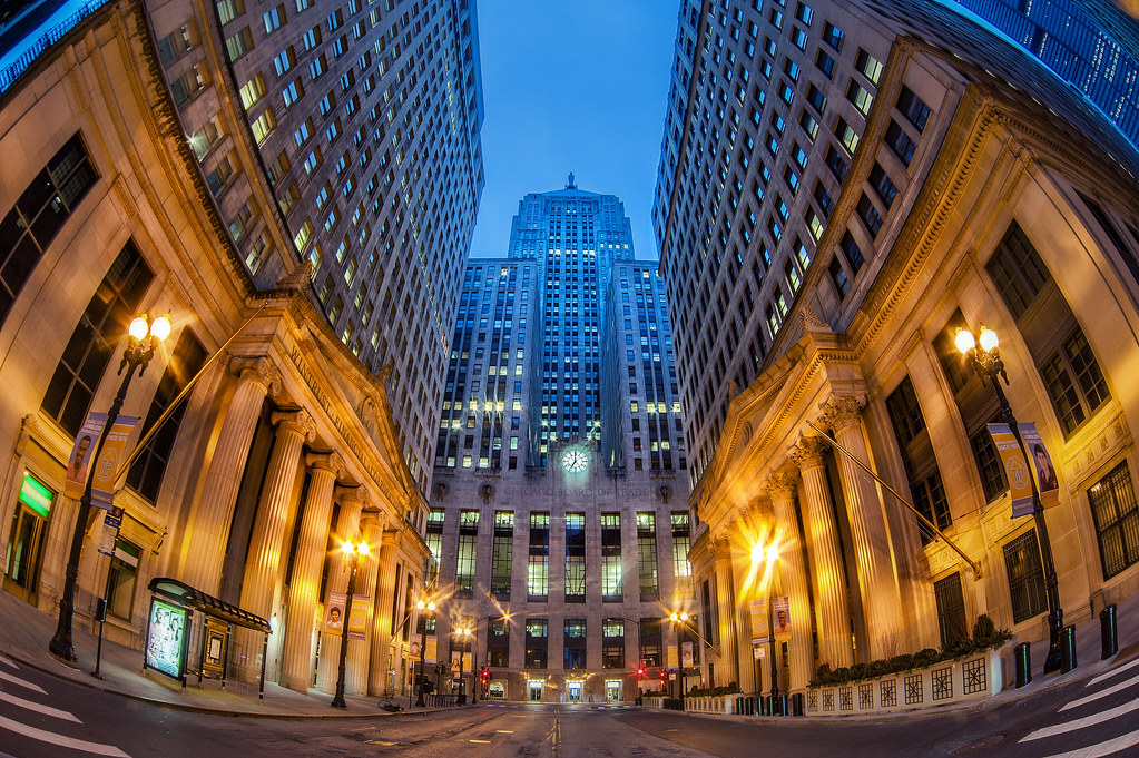 The Chicago Board of Trade - taken early on Sunday morning.