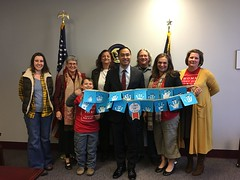 Moms and SuperVolunteers in Texas meet with U.S. Representative Joaquin Castro (TX-20) on December 21, 2016.
