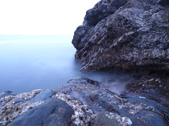 Seaside (chrisgarv10) Tags: olympus omd em5 1250mm micro four thirds 43s seaside water waves tide barnicles rock formation horizon blue long exposure black scotland fraserburgh shore