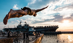 Fun times (The Sergeant AGS (A city guy)) Tags: fun unitedstates outdoors travelformyjob navalbase sandiego california mariners soldier exploration skies blue colors aircraftcarrier