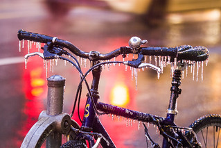 Toronto ice storm 2017 - ice bike