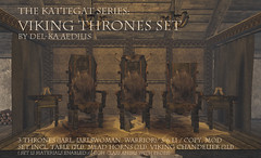 Viking Throne Set from Del-ka Aedilis (nea.narstrom) Tags: vikings wikinger genre secondlife throne highseat