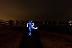 Light man (pepe50) Tags: pepe50 light night lightpainting italy campogalliano cave leisure paint painting longexposure travel fun party circle fire woolsteel martian ufo alien canon canon450d emiliaromagna notte flickr lamp fiamme body lux fiatlux lake trail funny 2017 nature dark sky flare woman scintille tree water acqua blu beanch panchina