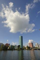 Cloud over Frankfurt (Rich3012) Tags: sky cloud tower river germany deutschland frankfurt main das westhafen hesse gerippte