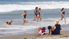 Zuma JG: ZB1_0101 (Kevin MG) Tags: usa losangeles malibu water ocean sand girls cute little young youth pretty teen preteen blue lifeguard juniorlifeguard 500px beach shore shoreline california child kid kids children zumabeach zuma