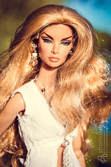 Angelica (astramaore) Tags: blue white color beauty fashion toy necklace beads chains doll tan blouse infusion natalia 16 earrings tilda brazen tanned brisby