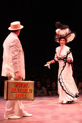 """Patrick Cassidy and Paula Leggett Chase as Harold Hill and the mayor's wife, Eulalie MacKecknie Shinn, in the Music Circus production of """"The Music Man"""" at the Wells Fargo Pavilion July 31 - Aug 5. Photo by Charr Crail."""