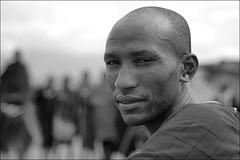 Maasai (*Kicki*) Tags: africa portrait people man face tanzania person maasai arusha svartvitt