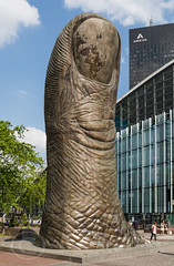 Paris June 2015 (3) 217 - Cesar Baldaccini's Le Pouce (The thumb) 12 metres high and 18 tonnes at  - La Dfense - A high rise business district, it includes bars malls and hotels, very impressive (Mark Schofield @ JB Schofield) Tags: park city people paris france reflection building glass seine modern skyscraper hospital reflections mall river hotel grande high bars sitting cityscape arch boulogne district arc triomphe le cesar area highrise reflective thumb tall hotels 12 sat 18 relaxed financial parc bois chilled finance arche the pouce metres tonnes pompidous baldaccinis