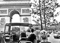 Hop on hop off summer trip - Arc de Triomphe (high key) (i z a d's) Tags: trip summer bus june de for high waiting key arc triomphe charles off front tourist 25 hop gaulle etoile 2015 triompe my