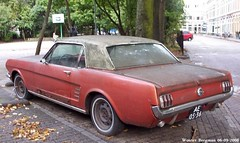 Ford Mustang 1966 (XBXG) Tags: auto old usa holland classic ford haarlem netherlands car vintage us rust automobile nederland voiture 1966 american mustang wreck fordmustang paysbas v8 amerikaans ancienne rouille wrak amricaine roust ae0536