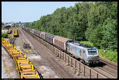 Duisburg-Entenfang, 10 juli 2015 | HSL 37025 (Jeroen de Vries.) Tags: train germany deutschland zug nrw prima alstom trein hsl saarstahl rurhgebiet saarrail