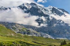 Kleine Scheidegg (Tuomo Lindfors) Tags: mountain alps sphinx clouds schweiz switzerland suisse observatory jungfrau adjust pilvet sveitsi kleinescheidegg alpit vuori topazlabs